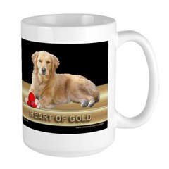 Golden Retriever Large Mug Gold/Black