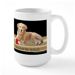 Golden Retriever Large Mug Gold/Black