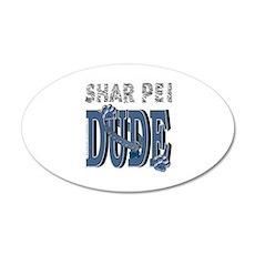 Shar Pei DUDE 22x14 Oval Wall Peel
