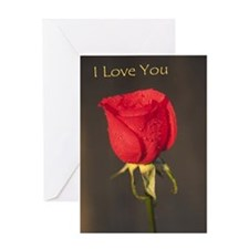 Red Rose (I love you) Greeting Card