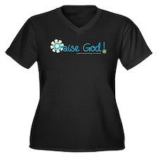 Praise God Women's Plus Size V-Neck Dark T-Shirt