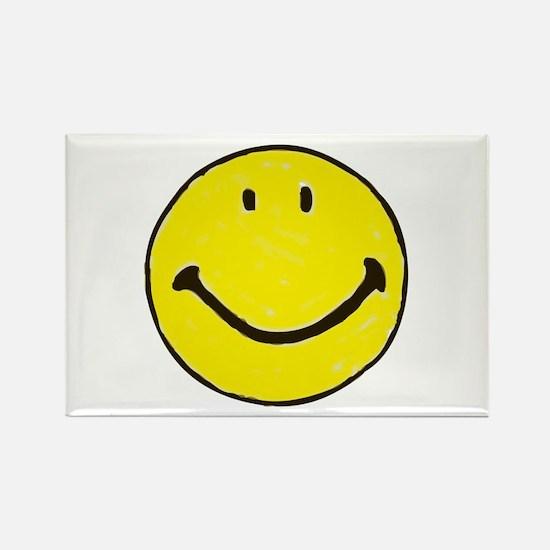 Original Happy Face Rectangle Magnet