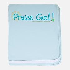Praise God baby blanket
