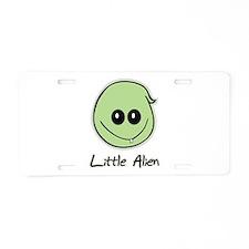 Little Alien Aluminum License Plate