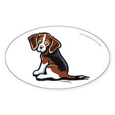 Cute Tri-color Beagle Decal