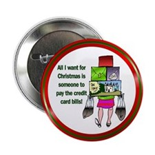"""All I Want for Christmas 2.25"""" Button (10 pack)"""