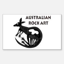Australian Rock Art Rectangle Decal