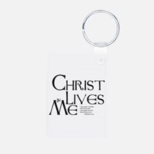Christ Lives in Me Keychains