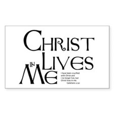 Christ Lives in Me Decal