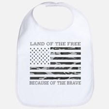 Land Of the Free Because of The Brave Urb Baby Bib