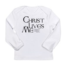 Christ Lives in Me Long Sleeve Infant T-Shirt