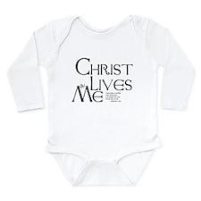 Christ Lives in Me Long Sleeve Infant Bodysuit