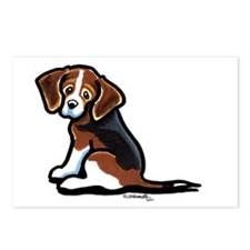 Cute Tri-color Beagle Postcards (Package of 8)