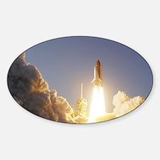 Space Shuttle Aloft Sticker (Oval)