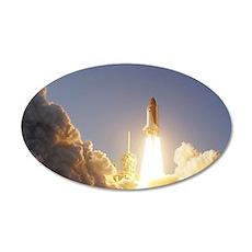 Space Shuttle Aloft 22x14 Oval Wall Peel