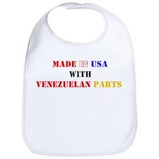 Made in USA with Venezuelan Parts! Bib