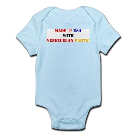 Made in USA with Venezuelan Parts! Infant Creeper
