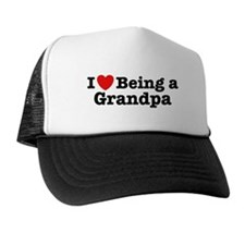 I Love Being a Grandpa  Trucker Hat