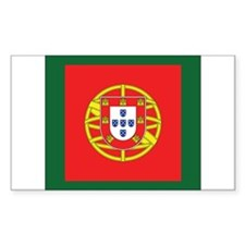 Portugal Naval Jack Rectangle Decal
