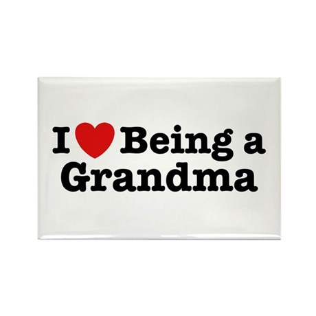 I Love Being a Grandma Rectangle Magnet