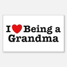 I Love Being a Grandma Rectangle Bumper Stickers