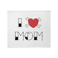 I (Love) heart MOM Throw Blanket