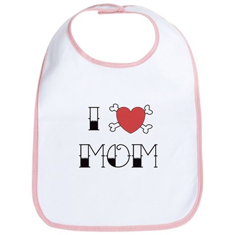 I (Love) heart MOM Bib