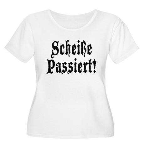 German Scheiße Passiert! Shit Happens Women's Plus