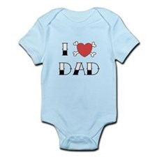 I (Love) heart DAD Infant Bodysuit