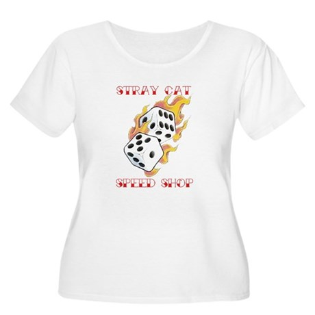 Speed Shop Women's Plus Size Scoop Neck T-Shirt