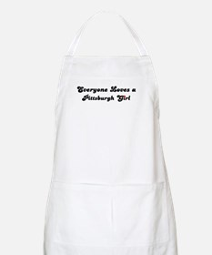 Loves Pittsburgh Girl BBQ Apron