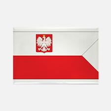 Poland Naval Ensign Rectangle Magnet