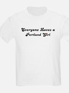 Loves Portland Girl Kids T-Shirt