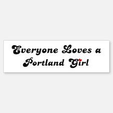 Loves Portland Girl Bumper Bumper Bumper Sticker