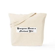 Loves Portland Girl Tote Bag