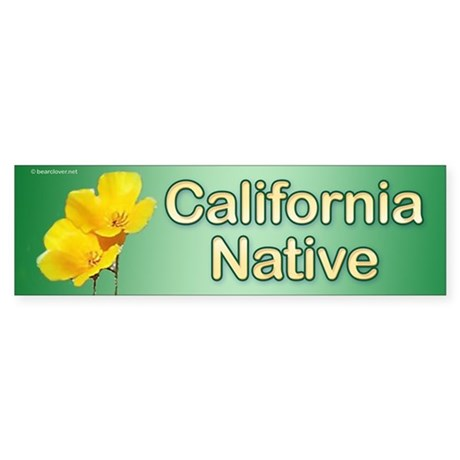 """Calif. Native"" Poppy bumper sticker"
