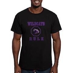 Purple Mascot Men's Fitted T-Shirt (dark)