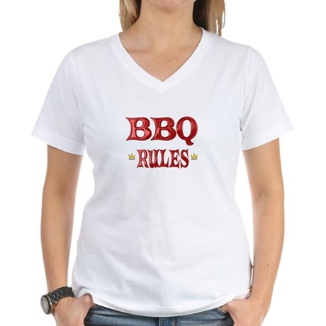 BBQ Rules Women's V-Neck T-Shirt