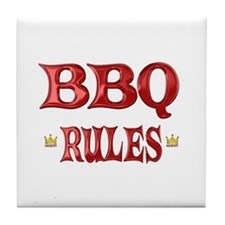 BBQ Rules Tile Coaster