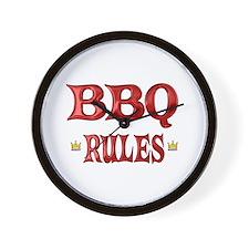 BBQ Rules Wall Clock