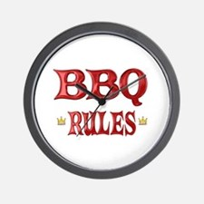 BBQ Rules Wall Clock