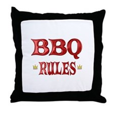 BBQ Rules Throw Pillow