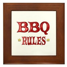 BBQ Rules Framed Tile