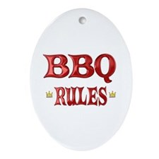 BBQ Rules Ornament (Oval)