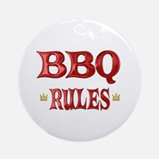 BBQ Rules Ornament (Round)