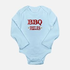 BBQ Rules Long Sleeve Infant Bodysuit