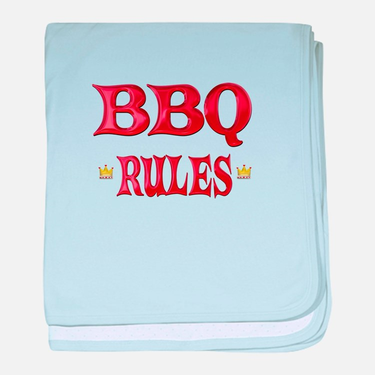 BBQ Rules baby blanket