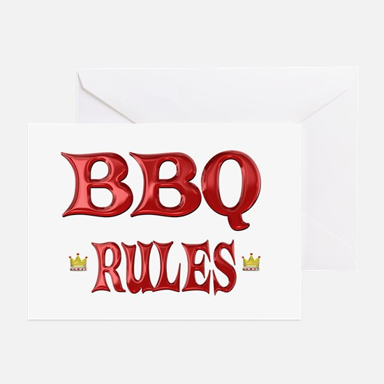BBQ Rules Greeting Cards (Pk of 10)