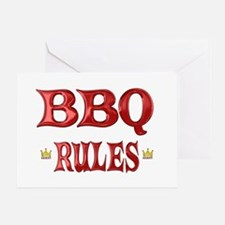 BBQ Rules Greeting Card
