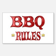 BBQ Rules Decal